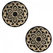 Holz Cabochon Mandala 20mm Black