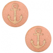 Holz Cabochon Anchor 20mm Rosegold