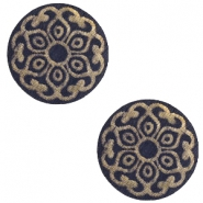 Holz Cabochon Mandala 12mm Dark blue
