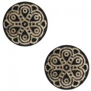 Holz Cabochon Mandala 12mm Black