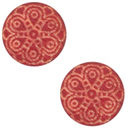 Holz Cabochon Mandala 12mm Cherry red