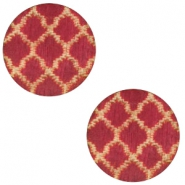 Holz cabochon Moroccan Design 12mm Cherry red