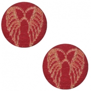Holz Cabochon Angel Wings 12mm Cherry red