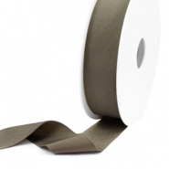 Elastisches Band Ibiza 25mm Metallic dark taupe