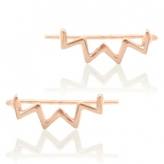 Trendy Ohrringe earline zigzag Rosegold
