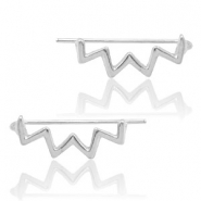 Trendy Ohrringe earline zigzag Silver