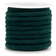 Trendy gesteppte Velvet Kordel 6x4mm Emerald green