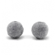 Velvet Pompom Perlen 8mm Grey