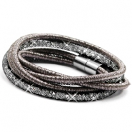Armbänder doppel sparkle & shine Anthracite-silver