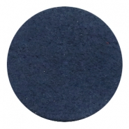 DQ Leder Cabochon 35mm Dark denim blue