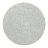 DQ Leder Cabochon 35mm Light grey