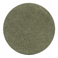 DQ Leder Cabochon 35mm Dark olive green