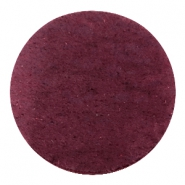 DQ Leder Cabochon 35mm Light aubergine red