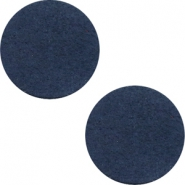 DQ Leder Cabochon 20mm Dark denim blue