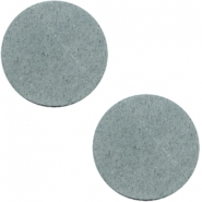 DQ Leder Cabochon 20mm Grey
