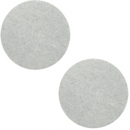 DQ Leder Cabochon 20mm Light grey