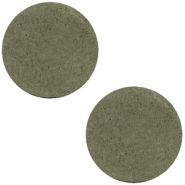 DQ Leder Cabochon 20mm Dark olive green