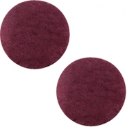 DQ Leder Cabochon 20mm Light aubergine red