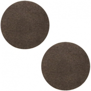 DQ Leder Cabochon 20mm Dark vintage brown