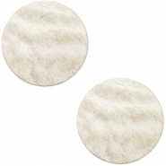 DQ Leder Cabochon 20mm Country grey