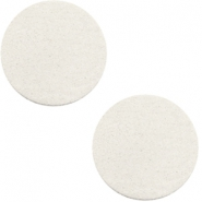 DQ Leder Cabochon 20mm Off white