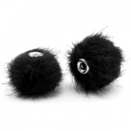 Pompom Perlen faux fur 12mm Black