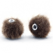 Pompom Perlen faux fur 12mm Classsic brown