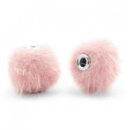 Pompom Perlen faux fur 12mm Light pink