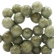 8 mm Naturstein Perlen rund Jade Green-grey