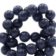 8 mm Naturstein Perlen rund Jade Dark midnight blue