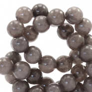 6 mm Naturstein Perlen rund Jade Dark brown grey