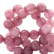 6 mm Naturstein Perlen rund Dark autumn rose