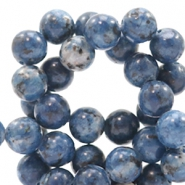 4 mm Naturstein Perlen rund Jade Mixed denim blue