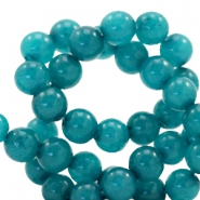 4 mm Naturstein Perlen rund Jade Dark teal blue