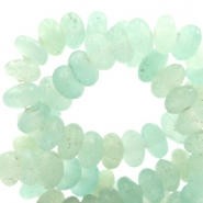 4 mm Naturstein Perlen disc Light turquoise green