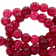 4 mm Naturstein Perlen rund Jade Soft ruby red