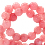 4 mm Naturstein Perlen rund Red Stone Coral berry rose