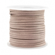Trendy Flach kordel Silk Style 2mm Rose taupe