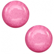 7 mm classic Cabochon Polaris Elements Mosso shiny Peonia pink