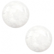 7 mm classic Cabochon Polaris Elements Mosso shiny White