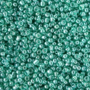 Glasperlen Rocailles 12/0 (2mm) Lark green transparent