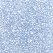 Glasperlen Rocailles 12/0 (2mm) Mist blue transparent