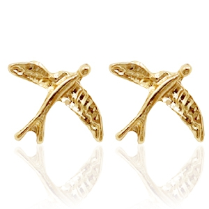 Trendy Ohrringe Nieten Bird Gold