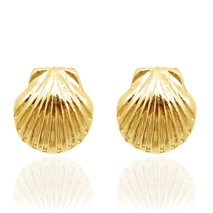 Trendy Ohrringe Nieten Shell Gold