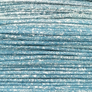 Wachskordel metallic 0.5mm Cool blue
