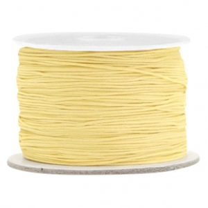 Macramé band 0.5mm Old linen yellow
