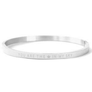 "Armbänder aus Stainless Steel - Rostfreiem Stahl ""YOU ARE MY STAR IN THE SKY"" Silver"
