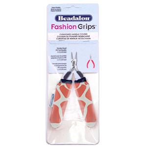 Beadalon Fashion Grips Tool Covers Giraffe Orange-weiss
