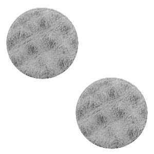DQ Leder Cabochons 12mm Concrete grey