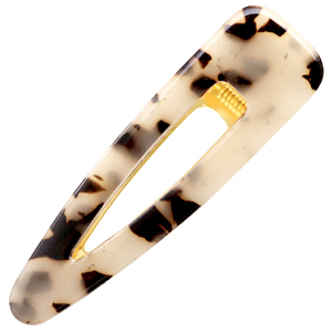 Haarschmuck Haar Clip Resin XL Cream black-gold